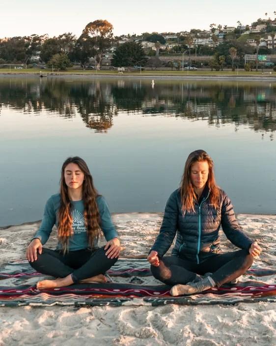 Gabi and Robyn Meditating San Diego