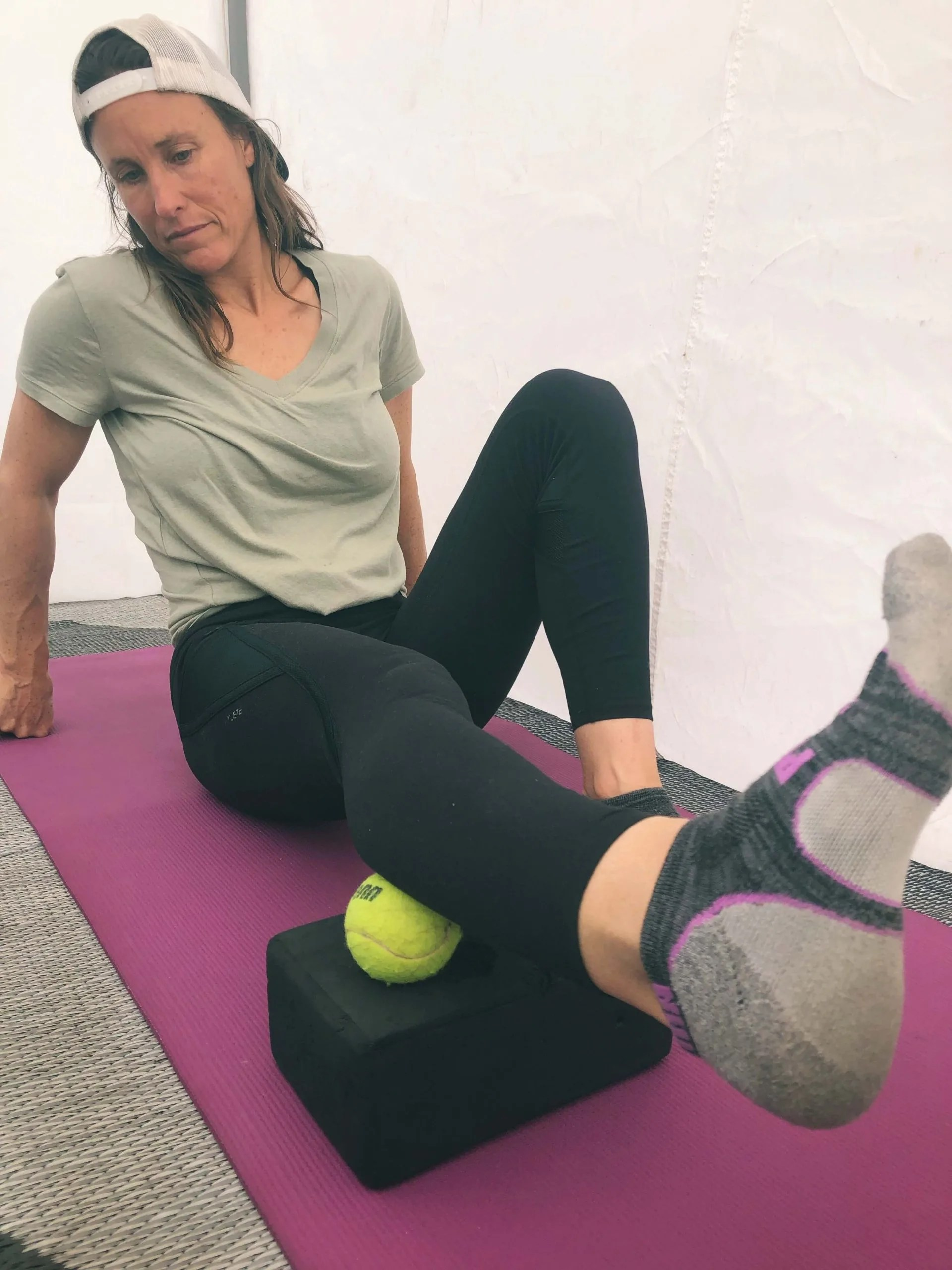 myofascial release with tennis ball