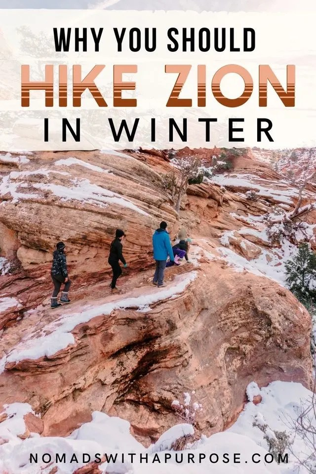 Why you should hike Zion in winter