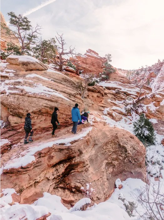 Zion trails in the winter