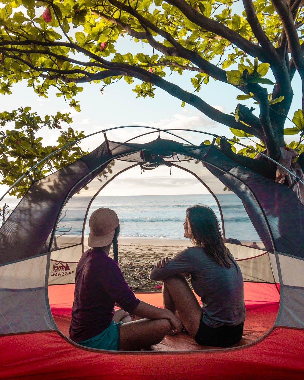 Kalalau Beach Camping, Kauai, Hawaii