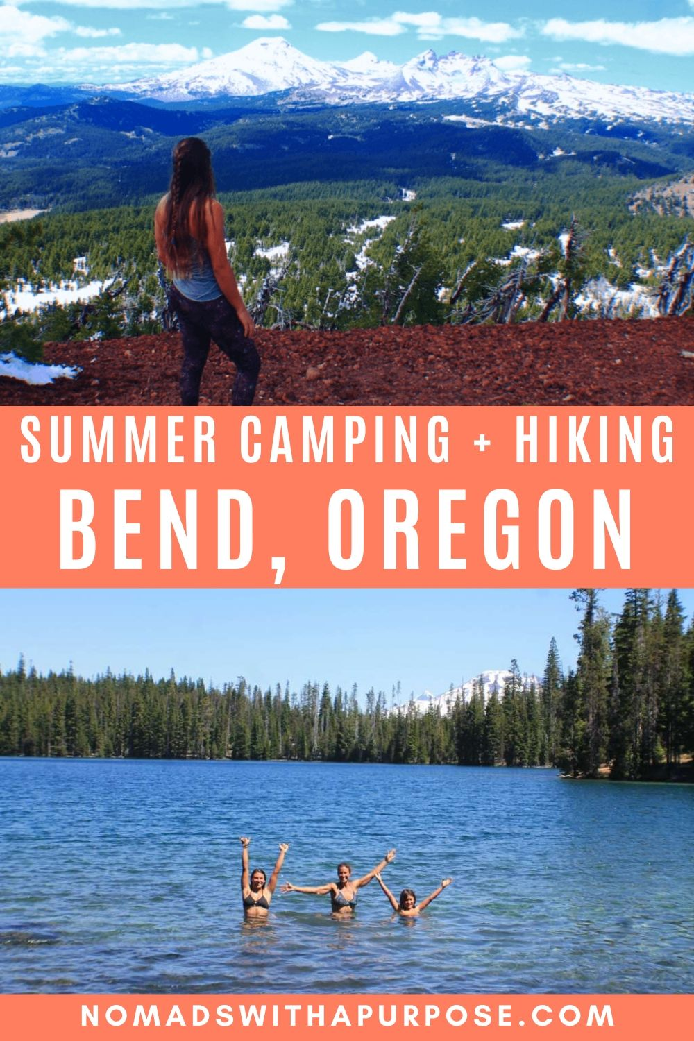 Summer hiking and camping in Bend Oregon