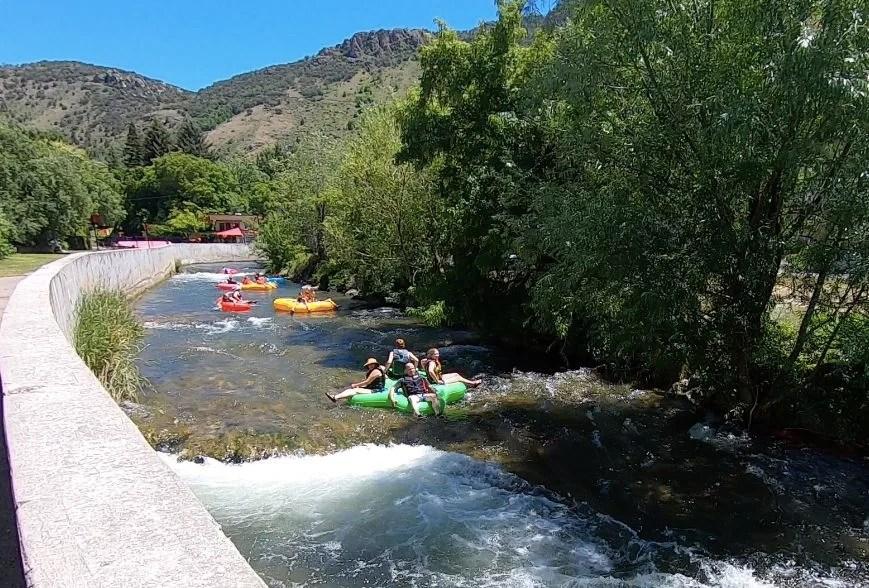 Lava Hot Springs tubing