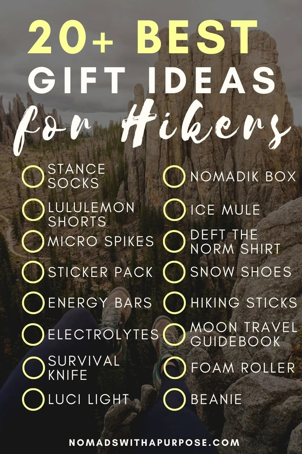 20+ Gift ideas for Hikers