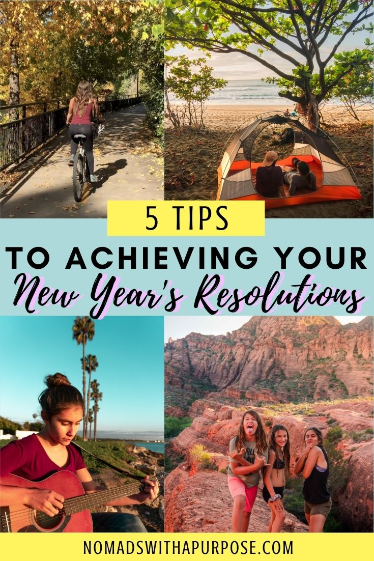 steps to achieving your New Years resolutions pin