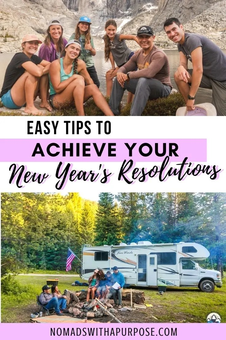 easy tips to achieve your new year's resolutions pin