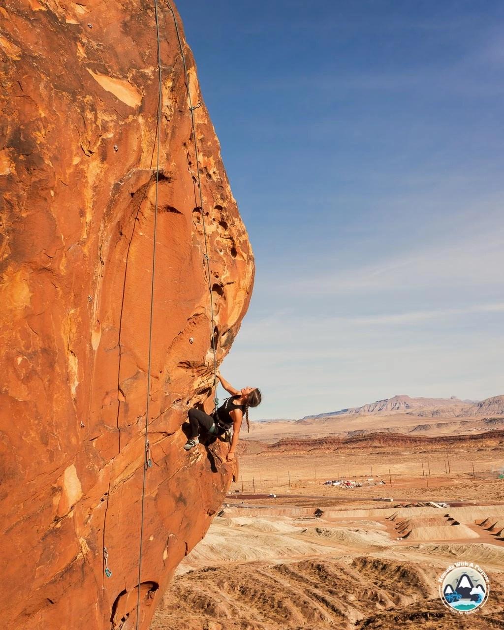 Climbing Coral Canyon Ridge