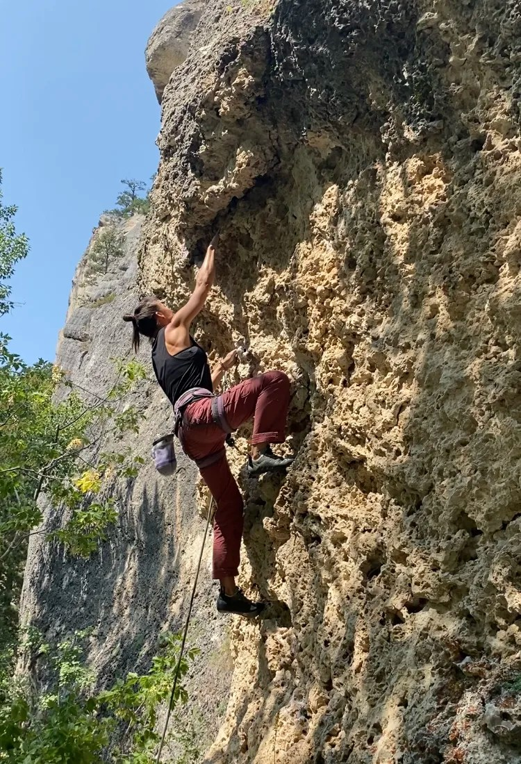 Wyoming Road Trip climbing Cody
