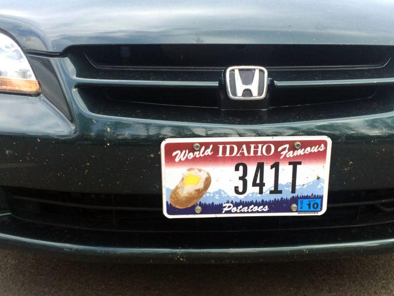 Idaho Potato Plate