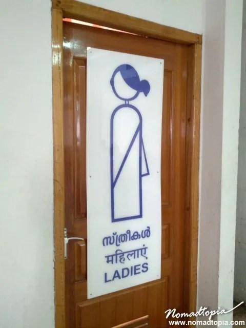 India bathroom sign