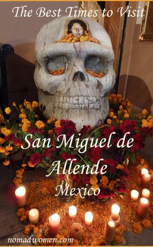 Pinnable image--Day of the Dead, one of the best times to visit San Miguel de Allende, Mexico