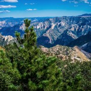 View of Las Barrancas del Cobre, the Copper Canyon of Mexico