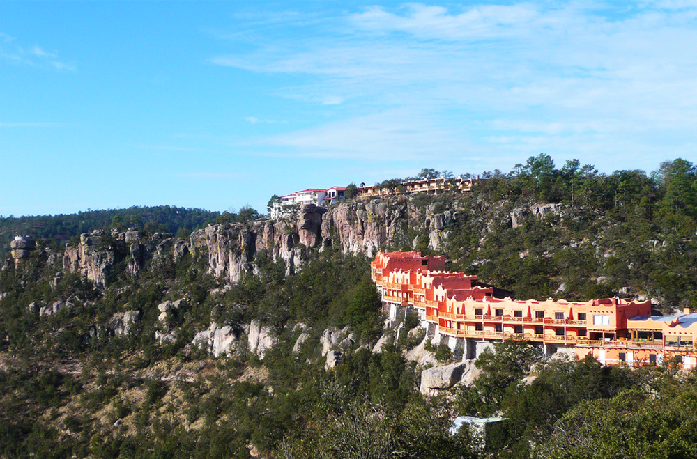 Hotel Mirador Posada Barrancas\ on the edge of the Copper Canyon.