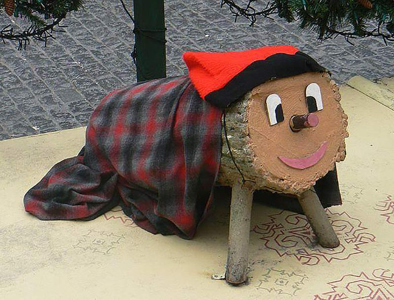 Catalan Christmas Traditions include the Caga Tio or Poop Log