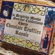 A beautifully packaged box of the best chocolate truffles, from the Brigittine Monastery in Amity, Oregon