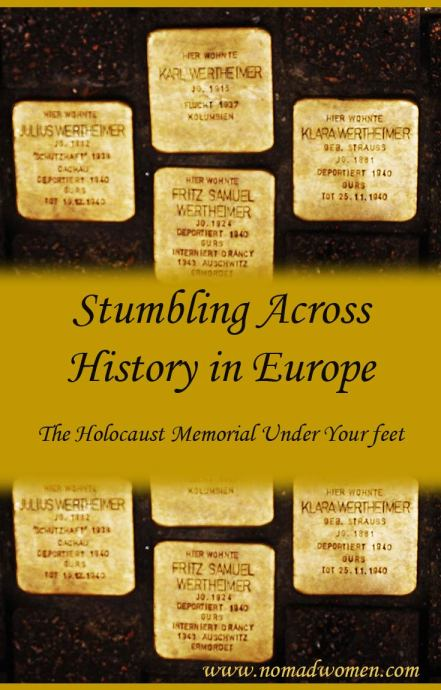 Stolpersteine, The Holocaust Memorial under your feet in Europe