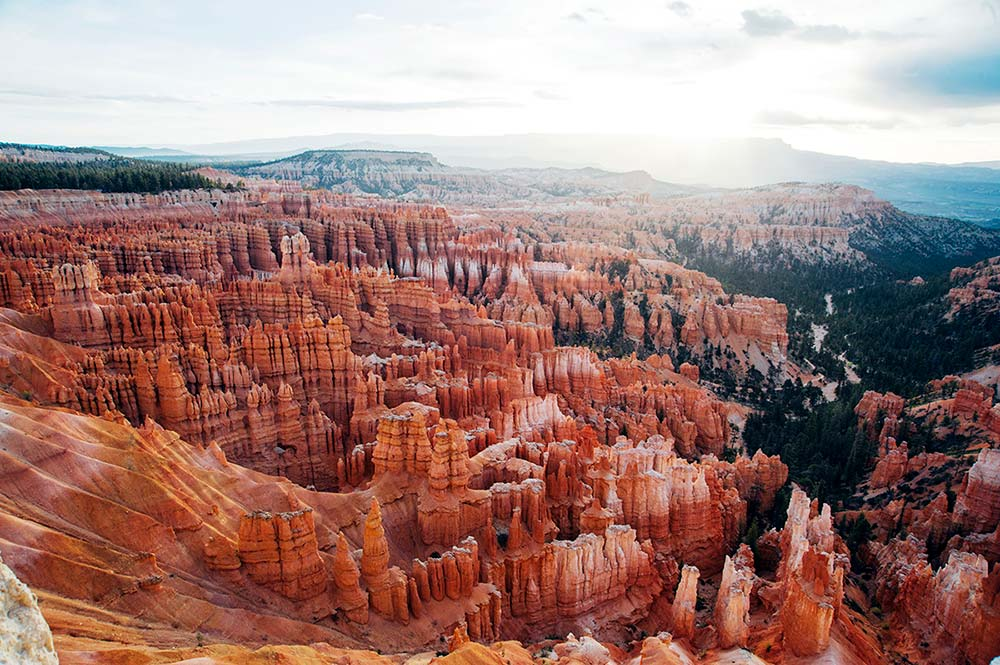 The red sandstone hoo-doos of Bryce Canyon, in Utah, an outdoor experience like no other.