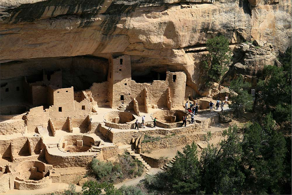 Mesa Verde National Park. Some of the more than 600 preserved cliff dwellings of the Ancestral Pueblo people of Colorado... who began living here more than 1400 years ago.