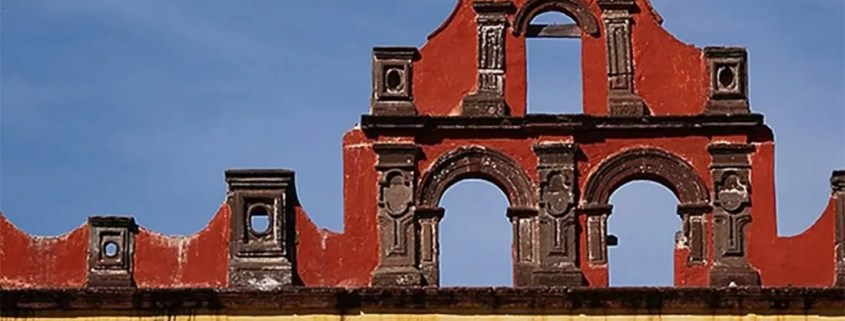 A view of the skyline of the 17th century Colegio de Sales in San Miguel de Allende, Mexico