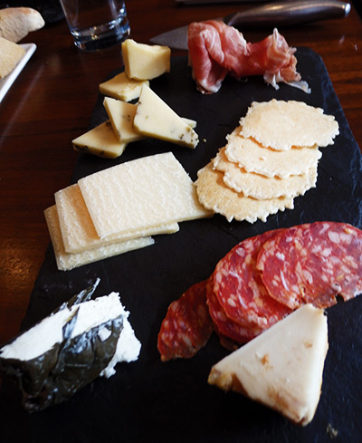 Our shared cheese and meats platter at The Welsh Rabbit, downtown Fort Collins, Colorado.