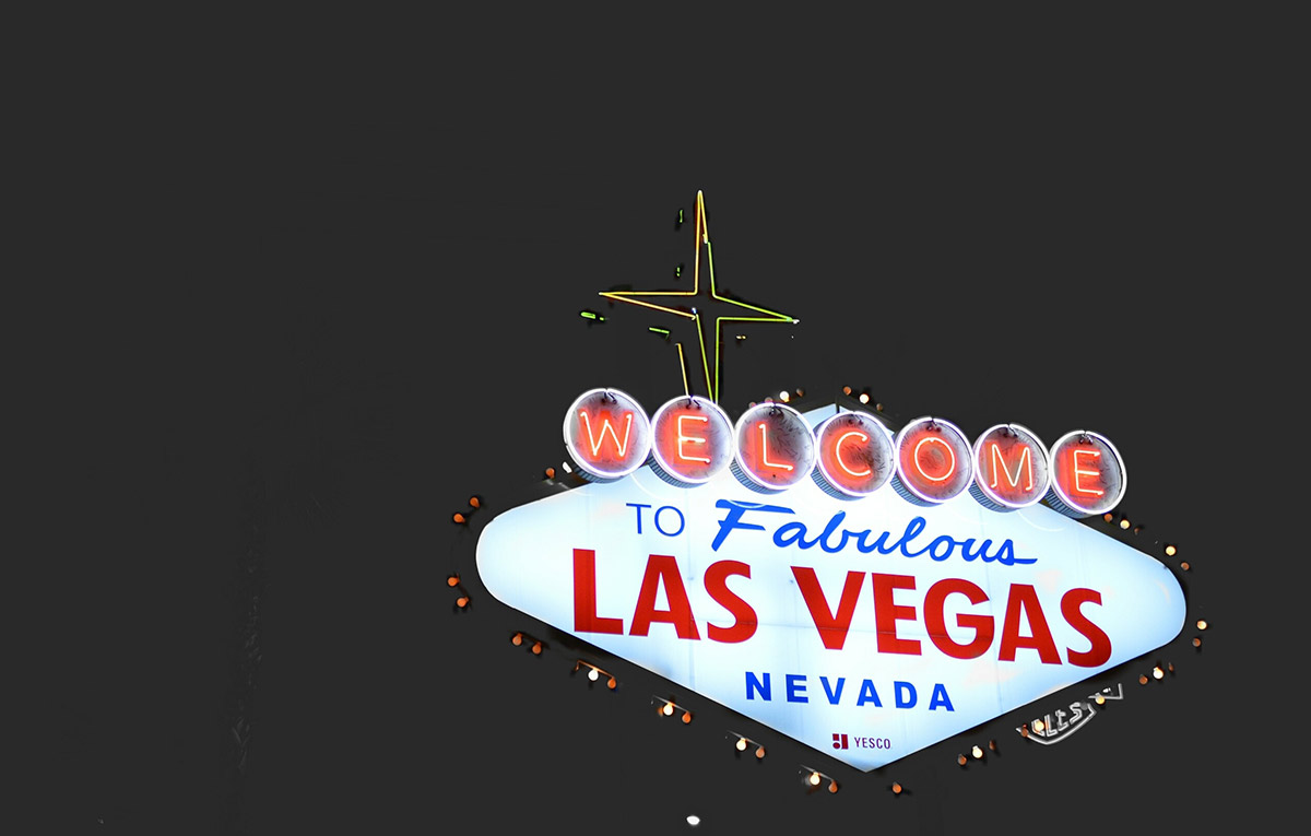 The iconic Welcome to Las Vegas sign welcomes visitors on the north end of The Strip.