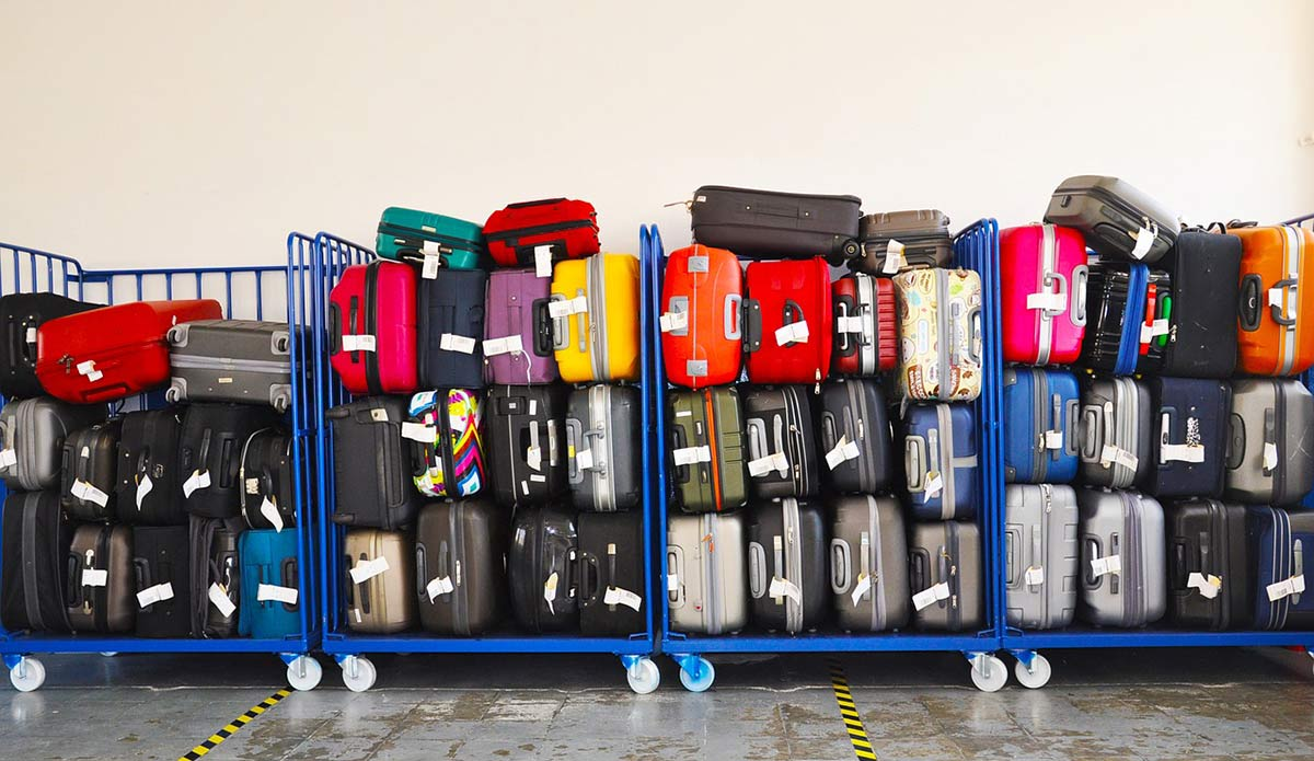A cart full of luggage -- the odds yours will be returned to you are high.