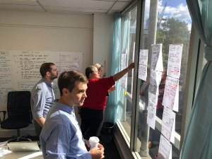 Design sprint - voting on the story boards