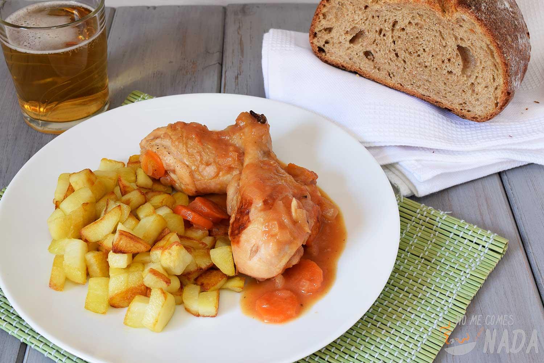 Pollo con cerveza y canela