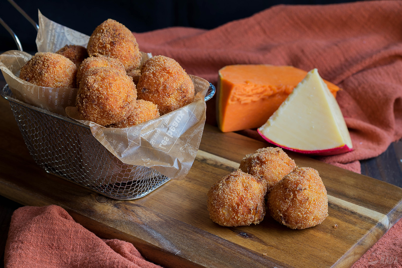 Bolitas de calabaza y queso