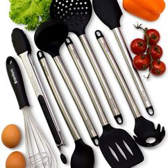 Kitchen Utensil Sets Electronics The Ultimate List Of Best Silicone Cooking Utensils Nomlist
