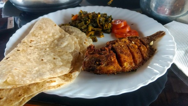 Fried Fish in Lunch, Alleppey