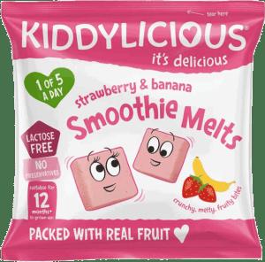 Kiddylicious - Aardbei & Banaan Smoothie Melts