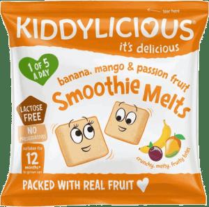Kiddylicious - Banaan, Mango & Passievrucht Smoothie Melts