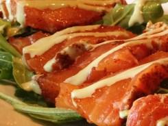 Spiced Salmon Steak Salad Tapas $9 @ MASA 14 on U St in DC