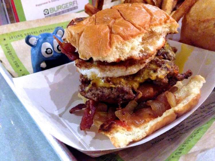 Breakfast All Day Burger from BurgerFi Down Town Silver Spring