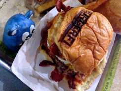 Breakfast All Day Burger $8 @ BurgerFi in Down Town Silver Spring, Maryland