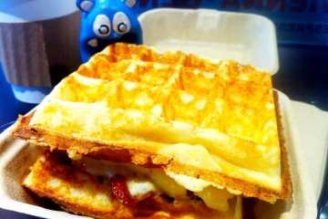 Bacon Egg Cheese Waffle from WickedWaffle