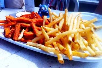 French and Sweet Potatoe Fries from Counter