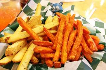 Regular and Sweet Potato Fries from Big Buns