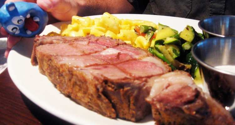 Herb Crusted Prime Rib Steak from Founding Farmers
