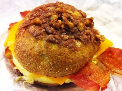 Bacon Egg & Cheese Pumpkin Bagel from Einstein Bros Bagels