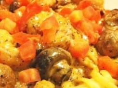 Cajun Shrimp Alfredo from Dave & Buster's