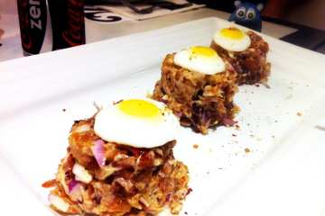 Cerchio's Pork Sisig from Romulo Cafe Manila Philippines