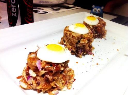 Cerchio's Pork Sisig from Romulo Cafe Manila Philippines