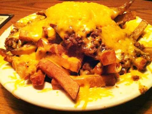 Chili Loaded Fries from Hard Times Cafe