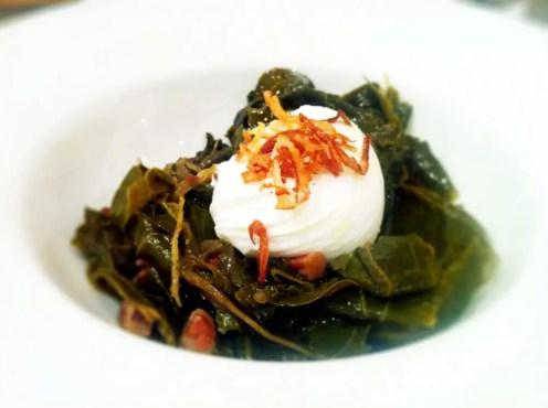 Collard Greens Poached Egg from Seasonal Pantry