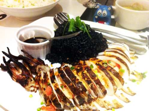 Grilled Squid from Romulo Cafe Manila Philippines