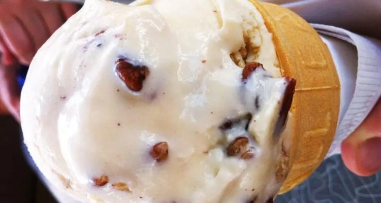 Pecan Icecream from Blue Moon Cafe Shepherdstown