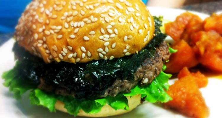 Seaweed Burger from Marks Kitchen