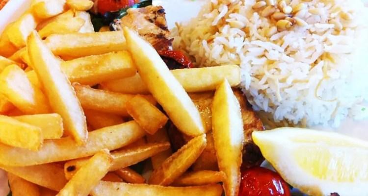 Swordfish Kabob from Mediterranean Grill